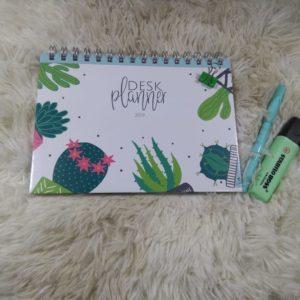 Desk Planner Cactus